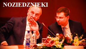 Andris Bērziņš un Valdis Dombrovskis