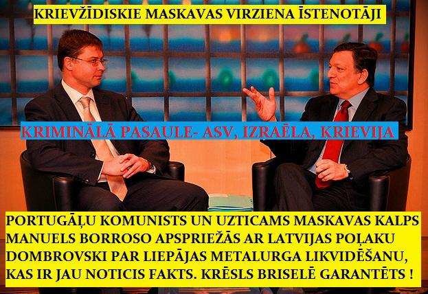 Manuels Borroso un Valdis Dombrovskis , reiniks, āboltiņa.