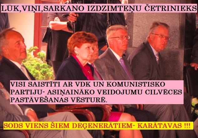 A. Bērziņš, V. Vīķe- Freiberga, V. Zatlers. G. Ulmanis. LRTT, H-86, Saeima, Latvija, DP,