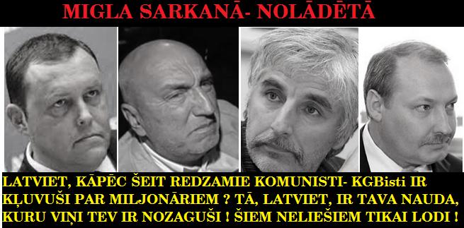 R. Kozlovskis, A. Borovkovs, I. Godmanis, J. reiniks. LRTT. Saeima, DP, ST.