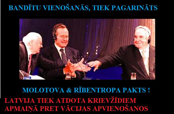 Gorbačovs, kanclers Kols, ASV prezidents Bušs, Latvija, Merkel