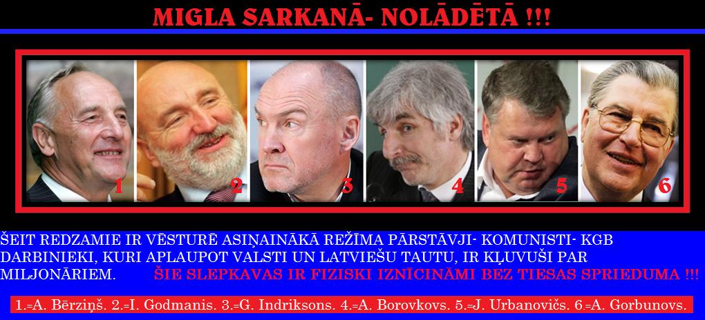 Andris Bērziņš, Ivars Ivars Godmanis, Guntis Indriksons, Anatolijs Gorbunovs, Aivars Borovkovs, Jānis Urbanovičs
