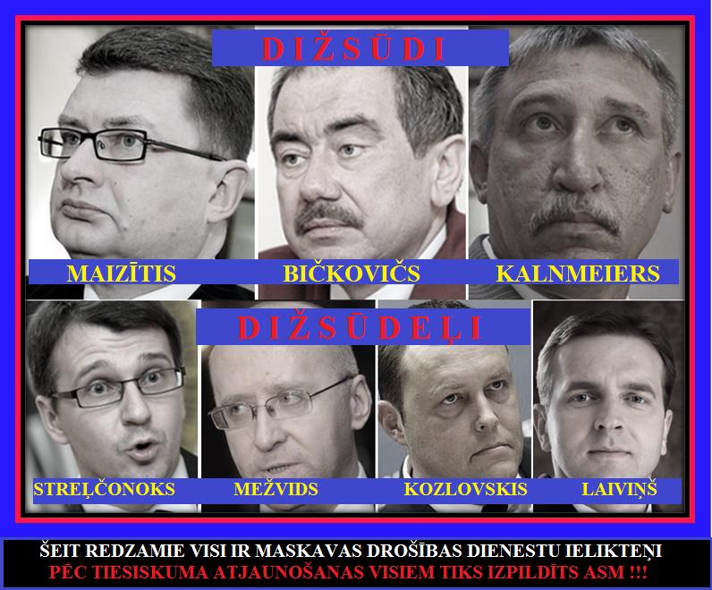 Laiviņš, ST, Maizītis, SAB, Bičkovičs, Prokuratūra, KNAB, Strelčonoks, Kozlovskis, Mežvids, DP