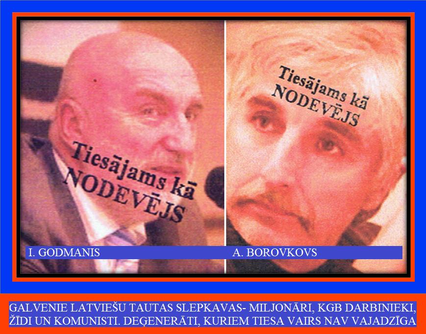 4. A. Borovkovs, I. Godmanis, Ušakovs, Rūtenbergs.