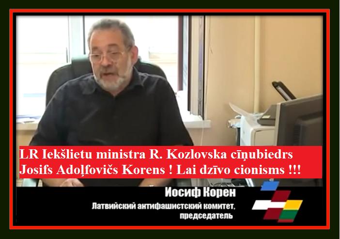 J. Korens, R. Kozlovskis, Cilēvičs, Ēbreji.