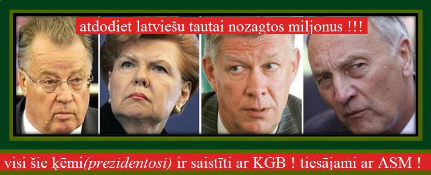 Guntis Ulmanis, Valdis Zatlers,Vaira Vīķe Freiberga, Andris Bērziņš, LRTT