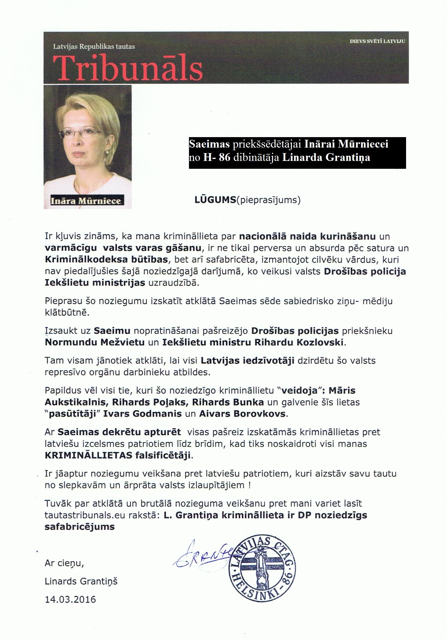 I.Mūrniece-GrantiņšMežvietsKozlovskisLRTT