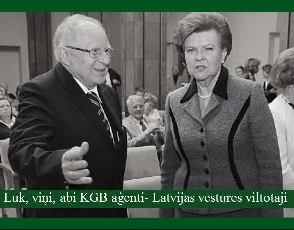 Vaira Vīķe - Freiberga un Jānis Stradiņš, LRTT. I. Ronis.