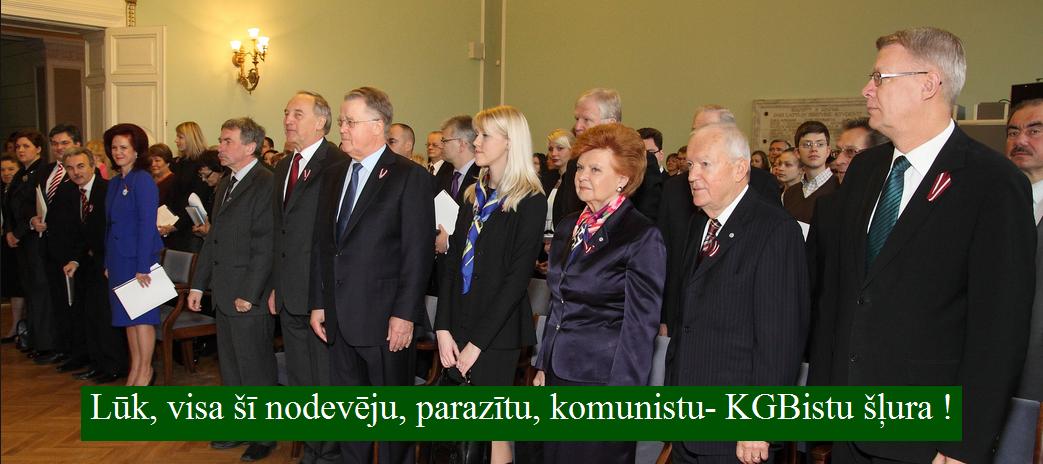Ulmanis, Vīķe, Zatlers, LRTT, Grantiņš, Kūtris