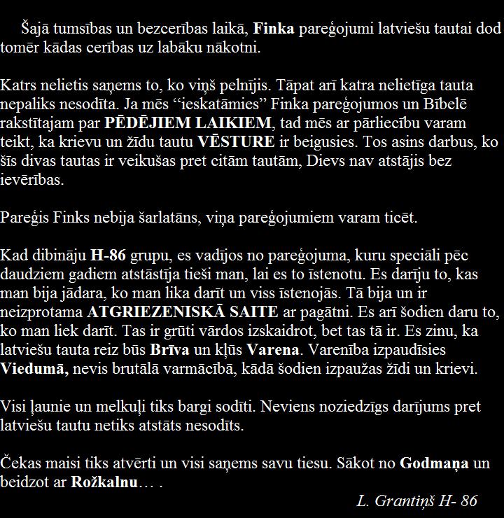 Finks,Grantiņš,LRTT, Latvija.